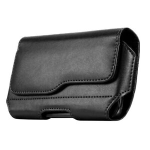 Men Phone Pouch Case Leather Holster Universal Cellphone Wallet Belt Cover Clip