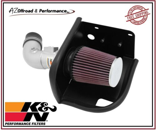 K/&N 69 Series Silver Typhoon Air Intake System for 2011-2017 Ford Fiesta 1.6L L4