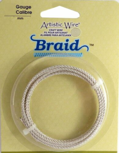 Artistic Wire Braided Craft 8 Gauge 1.5 Foot Coil Tarnish Resist ...