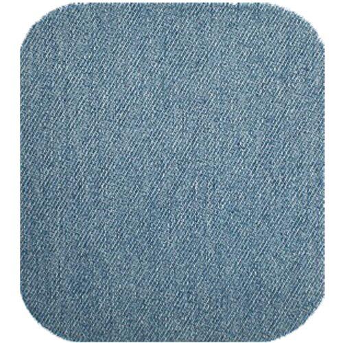 Jeansflicken E90102 1 Stoff Jeans- Bügel- Flicken Reparaturflicken hell blau
