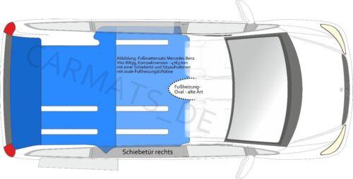 Fahrgastraum Mercedes Vito W639 Kompakt 1 Schiebetür Sitzaufnahmen Anthrazit