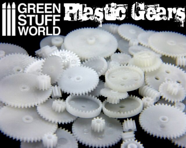 58x Plastic Cogs and Gears Steampunk - Clock Watch Robot Warhammer Model  Scenery