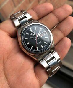 Seiko-5-SNKC55J1-Black-Datejust-Sunburst-Dial-Vintage-Auto-JDM-Mint-Hodinkee-OEM