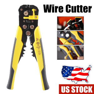 Automatic Wire Cutter Stripper Pliers Electrical Cable Crimper Terminal Tool UK