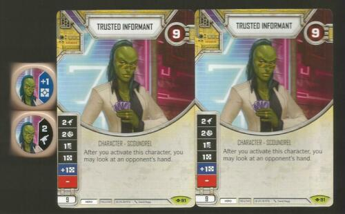 Star Wars Destiny *2x TRUSTED INFORMANT* Way of the Force #91