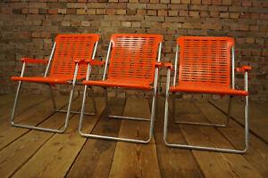 70er-Vintage-Folding-Chair-Classic-Car-Garden-Seat-Bully-Camping-Kurz