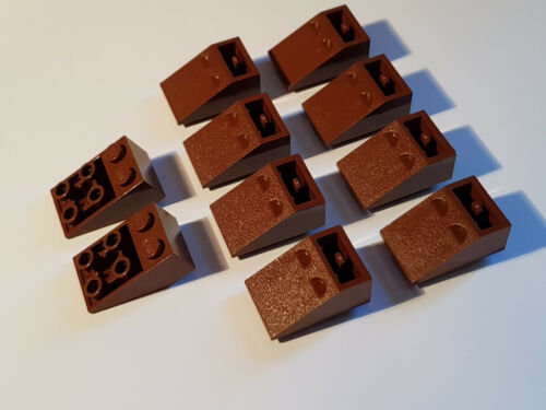 FR53 ReddishBrown LEGO® 10 x 3747b Dachstein 33° 3 x 2 rotbraun invers 4508616