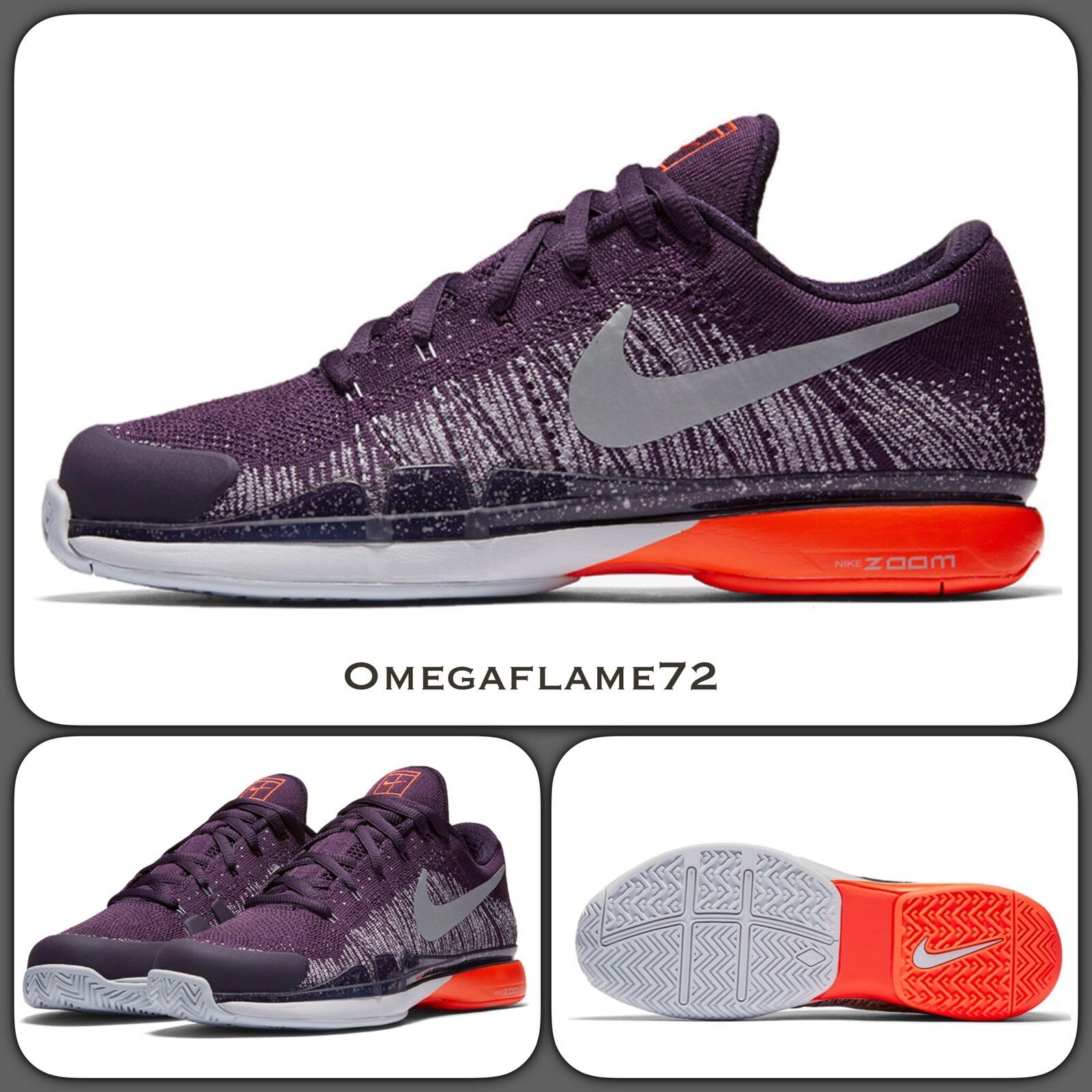 Nike Federer Zoom Vapor 9.5 Tour Flyknit 885725-500 UK 7, 7, 7, EU 41, USA 8 50995a