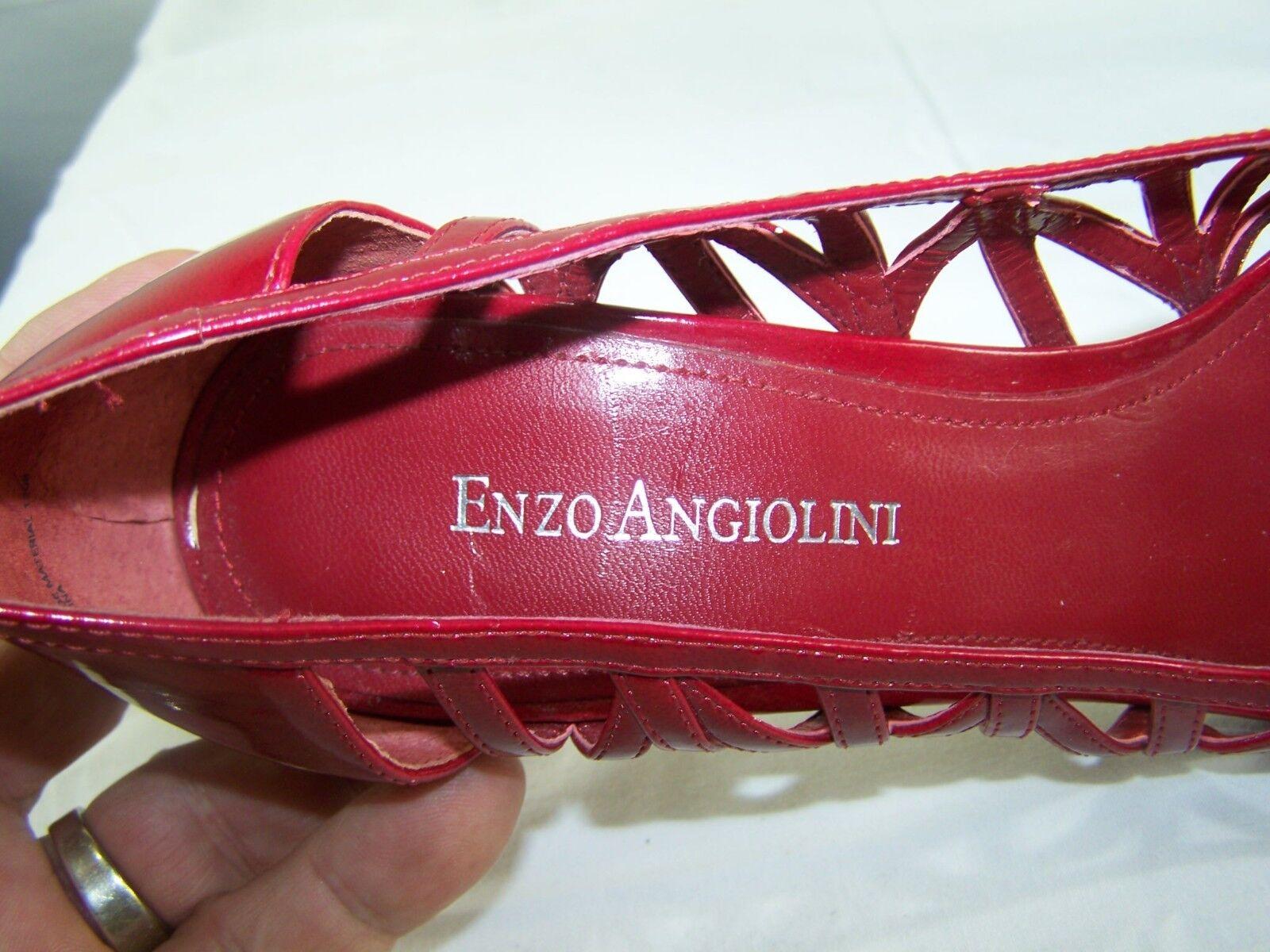 Enzo Aniolinig rot Eyelet Wet Look Open Toe Heels schuhe schuhe schuhe damen Größe 8M 8 M 03b49f
