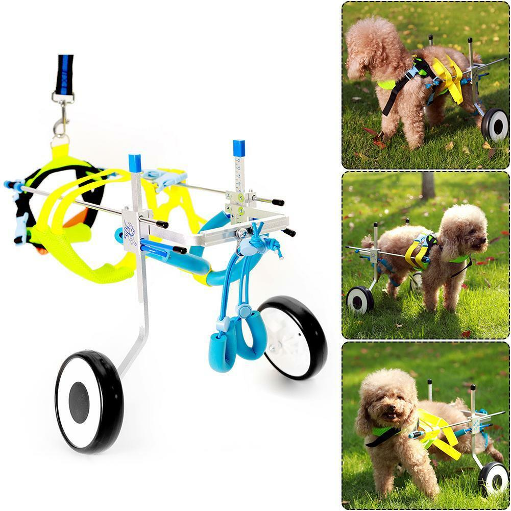 2 Wheel Pet Wheelchair Walk Assistant Kit For Handicapped Cat Dog Walker XS Hot