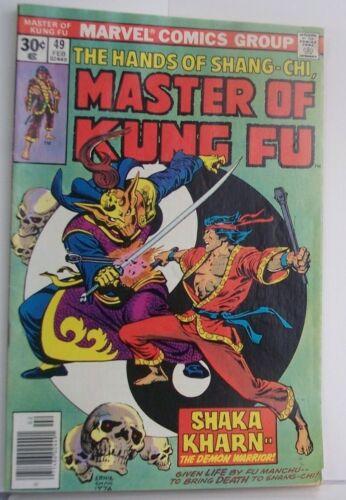 U CHOOSE 01975-1977 VINTAGE MARVEL COMICS MASTER OF KUNG FU #3 OR #39