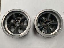 Vintage Torque Thrust Style Mag Wheels 15x7 Chevy Gm Gasser Pair J17152