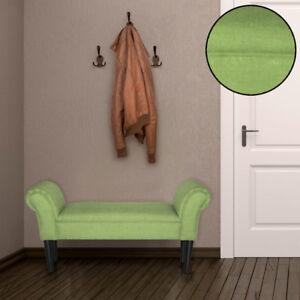 Détails sur Design Banquette Capitonnée Chambre à Coucher Tabouret Tissu  Meuble Assis Vert