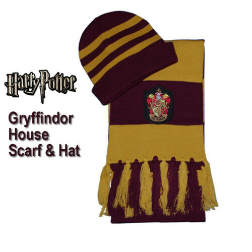 Harry Potter Hogwarts Gryffindor House Scarf & Hat set