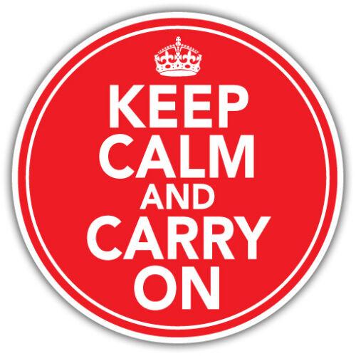 Keep Calm /& Carry SUR Autocollant Voiture Split Van rétro vintage 85 mm
