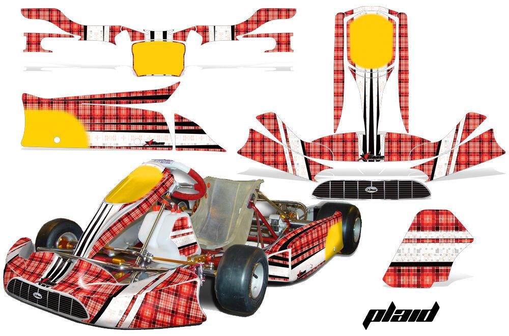 Go Kart Grafik Kit Sticker für Tony Kart Venox Kariert Kariert Kariert 24ab14