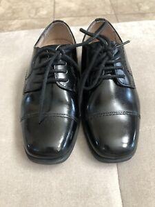 Florsheim-Boys-Black-Dress-Shoes-Size-10-Leather-Worn-Once-Wedding