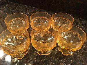6 Tiffin Dessert Glasses!! Beautiful!!