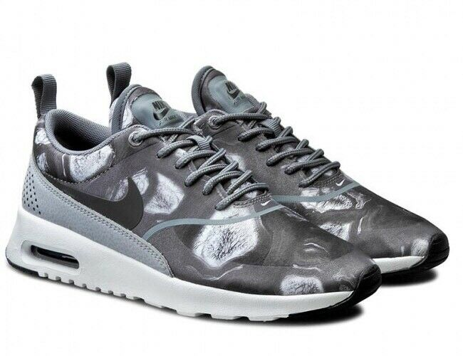 Nike Nike Nike WMNS AIR MAX THEA PRINT 599408-013 Nero LUPO Grigio Sz EU 40 US 8.5 NUOVE aaa9ee