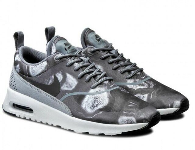 Nike Wmns Air Max Thea Print 599408 013 Schwarz Wolf Grau Sz UK 6 EU 40 US 8.5 NEU