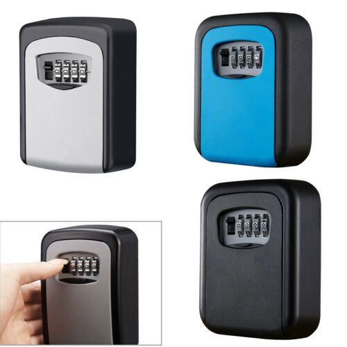 Alloy Steel 4 Digit Combination Password Key Storage Safe Box Lock Wall Mounted