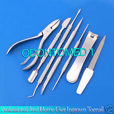 Professional and Home user Ingrown Toenail Kit Hand Tools Set,7 Pieces,BTS-123