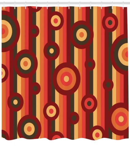 Retro Bohemian Pattern Shower Curtain Fabric Decor Set with Hooks 4 Sizes