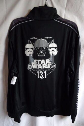 Run Disney 2017 Star Wars The Dark Side 1/2 Marathon 13.1 Track Jacket Men's XL