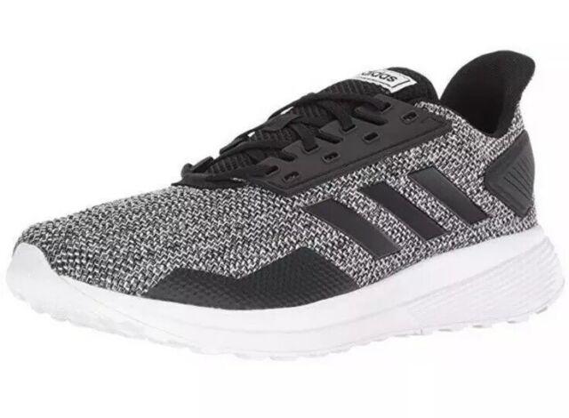 * ADIDAS MENS 9.5 Duramo 9 M Black White BB6917 Running Shoes SNEAKERS Trainers