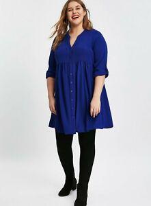 Evans-Blue-Plain-Tunic-Top-UK-Size-16-VR186-04