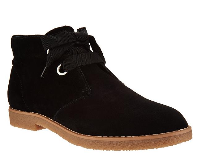 Isaac Mizrahi Mizrahi Mizrahi Live  Zoe Gamuza Chukka botas Cordones de grogrén Negro para Mujer 9 Nuevo  calidad garantizada