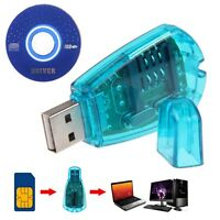 USB 2.0 Pocket Phone Writer Copy Backup GSM SMS to PC Sim Card Reader Adapter