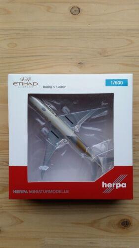 Herpa 531030-1//500 boeing 777-300er etihad airways-nuevo
