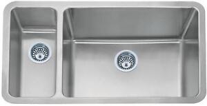 Hospitalier 1.5 Bol En Acier Inoxydable Brossé Undermount Kitchen Sink (d02r)-afficher Le Titre D'origine Nettoyage De La Cavité Buccale.
