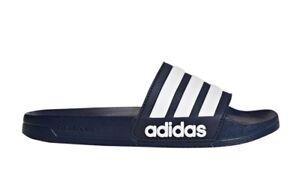 054a2bb62 New adidas Men s Adilette CloudFoam Slides Blue Sandals Sport Beach ...