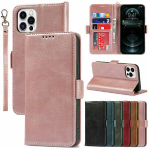 For iPhone 12 Pro Max 11 Xr 8/7/6 Leather Wallet Card Slot Case Flip Cover