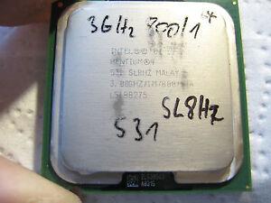 Intel Pentium 4 HT Proc. 531 3,0 GHz, 1MB Cache, 800 MHz FSB SL8HZ - Deutschland - Intel Pentium 4 HT Proc. 531 3,0 GHz, 1MB Cache, 800 MHz FSB SL8HZ - Deutschland