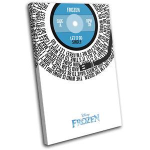 cde7f5b84e5 Frozen Let It Go Song Lyric Vinyl Record Movie Canvas Wall Art ...