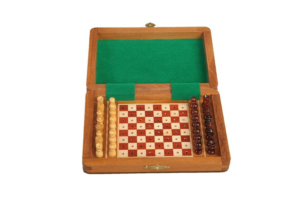 PEG WOODEN Travel Chess Set - 7  x 5