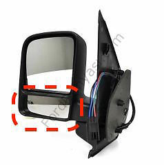 BLIND SPOT MIRROR GLASS PASSANGER SIDE //LEFT FITS FORD TRANSIT CONNECT 2000-2009