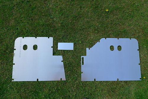 Los paneles de placas de piso 3 mm de espesor para Land Rover Serie 1 One 80 in 1948-1953 approx. 203.20 cm