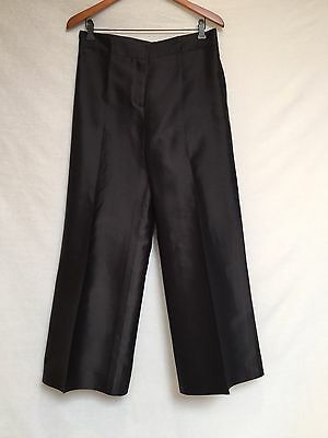 WOMEN'S OSCAR DE LA RENTA BLACK SILK DRESS PANTS- SIZE 12
