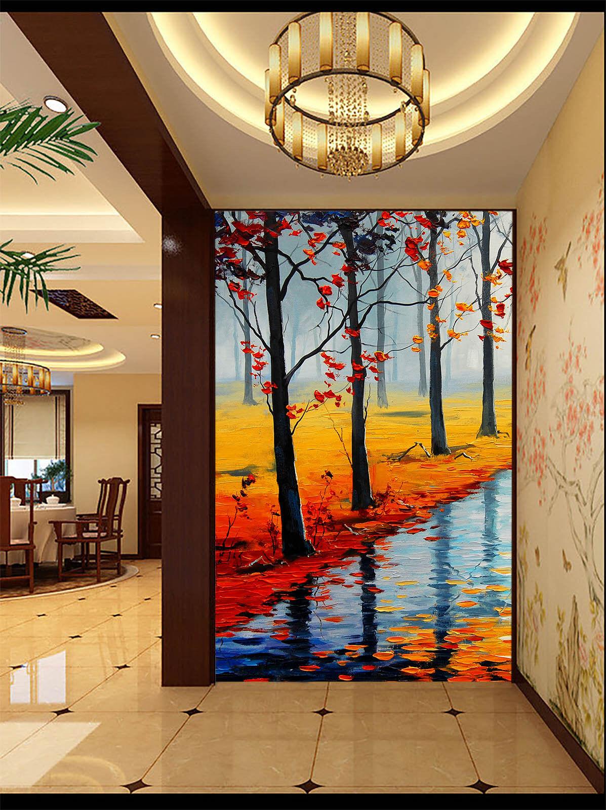 3D Am Fluss Wald 01435 Fototapeten Wandbild Fototapete BildTapete Familie DE