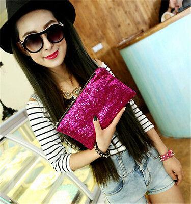 New Hot Fashion Glitter Sequins Spangle Handbag Party Clutch Bag Wallet Purse HI