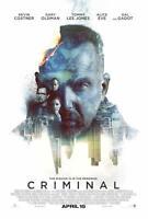 Criminal 13.25x20 Original Promo Movie Poster Kevin Costner Ryan Reynolds 2016 B