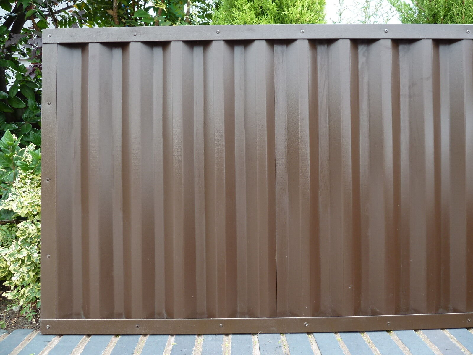 Details about Metal Fencing Panels Plastisol Coated Steel Fence Panels *  Maintenance Free *