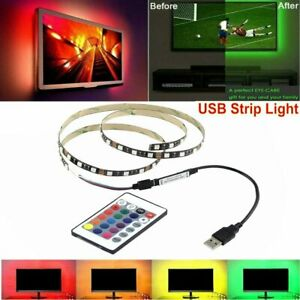 5V-USB-LED-Strip-Light-TV-Backlight-Lamp-Self-Adhesive-Tape-Wire-Remote-Control