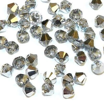 SCB377 COMET ARGENT LIGHT 4mm Faceted Xilion Bicone Swarovski Crystal Bead 48/pk