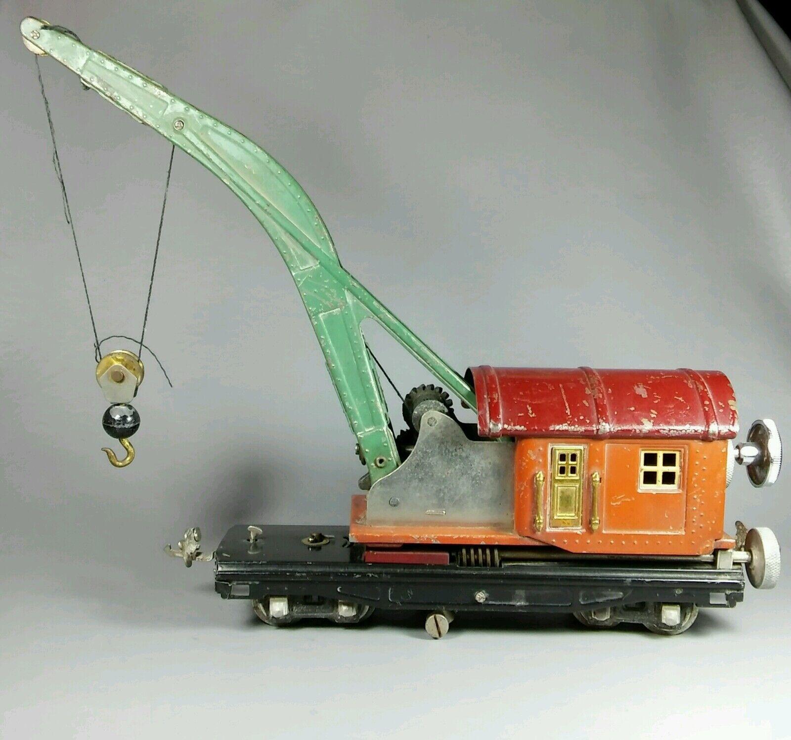 Vintage preguerra Lionel o calibre No.810 Coche grúa Derrick