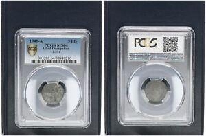 Allied Occupation 5 Pfennig 1948 A Fresh Mint Condition PCGS MS64 (45765)